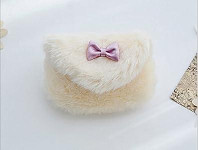 Amazon.com: Kids Girls Hairy bolsas de hombro Mini teléfono ...