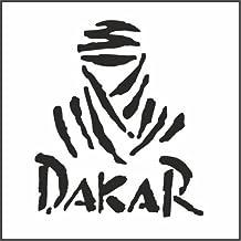 "Dakar Rally Helmet Motorcycle Decal Sticker M1 2 3/4""x 2 1/4"" Reflective Black"