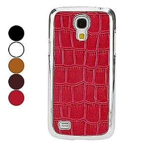 MOM Crocodile Grain Pattern Hard Case for Samsung Galaxy S4 mini I9190 (Assorted Colors) , Brown