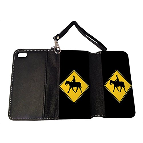 BMC iPhone SE Wallet Handbag Case - Horse Crossing (Purse Crossing Bag)