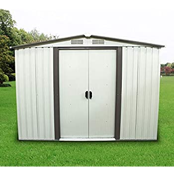 Amazon Com Leisurelife 8x6 Ft Metal Outdoor Backyard