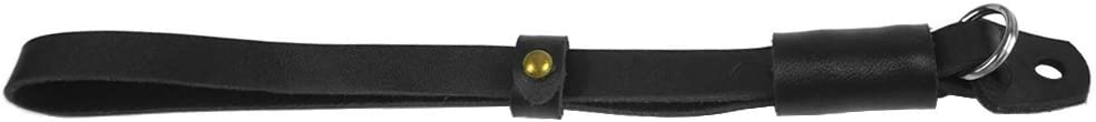 FoRapid Adjustable Genuine Leather Hand Wrist Strap Grip For Sony Leica Fuji Canon Olympus Nikon Pentax Panasonic Samsung Pentax Compact//Mirrorless//DSLR Camera /& Camcorder Black