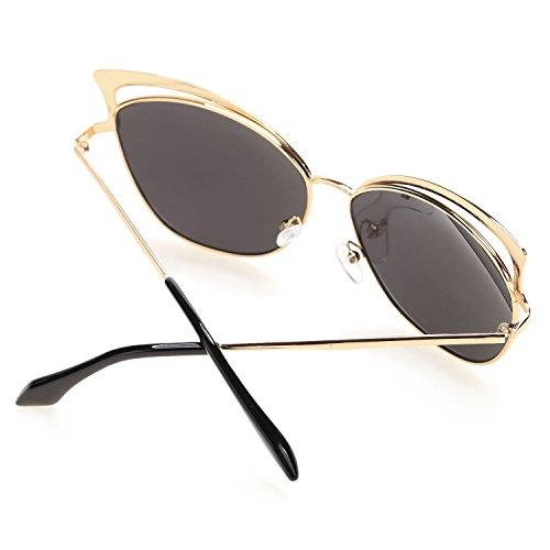3d6aec45606 best Fanala Hollow Gold Frame Sunglasses Retro Vintage Aviator Sunglasses  for Women and Men