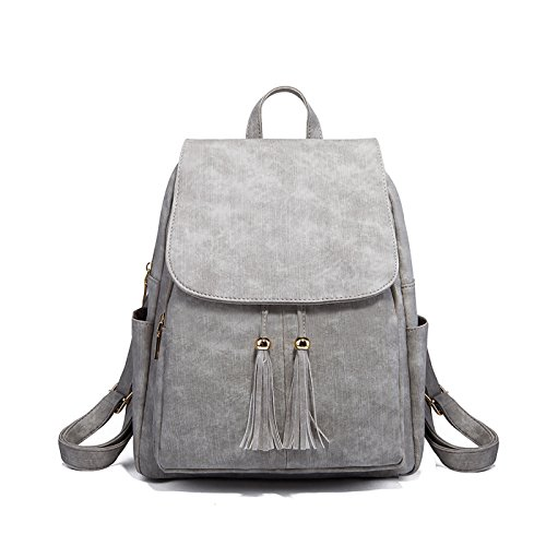 Small Gray Backpacks Travel Backpack Tisdaini Women Girls Soft Bags Sale for Leather waqxtTCgx