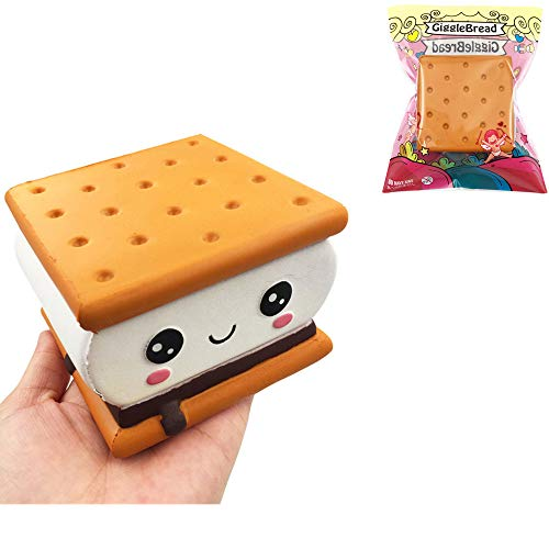 TUAVITNA GiggleBread S'More Chocolate Biscuit 9.596CM Licensed Slow Rising with Packaging Collection Gift