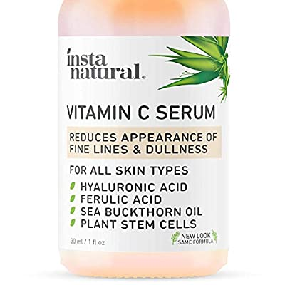 InstaNatural Vitamin C Serum with Hyaluronic Acid & Vit E – Natural & Organic Anti Wrinkle Reducer Formula for Face…