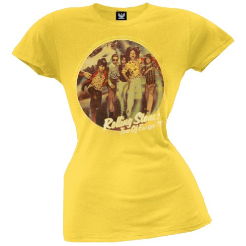 Rolling Stones - Womens Tour Of Europe 76 Juniors T-shirt