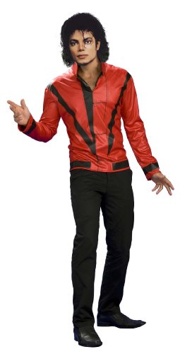Michael Jackson Red Thriller Jacket, Adult Medium (Michael Jackson Adult Costumes)