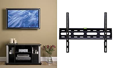 "YBG Imports Low Profile Slim Universal Flat Fixed TV Wall Mount 165 lbs Weight Loading Capacity Sizes 32"" - 65"" Samsung/Coby/LG/VIZIO/Sharp/Sony/Toshiba/Seiki/TCL/Haier/Hisense LCD LED Plasma OLED"