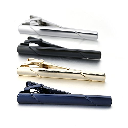 SEVENSTONE 8 Pcs Tie Clips for Men Set Ties Necktie Wedding Business Bar Clips