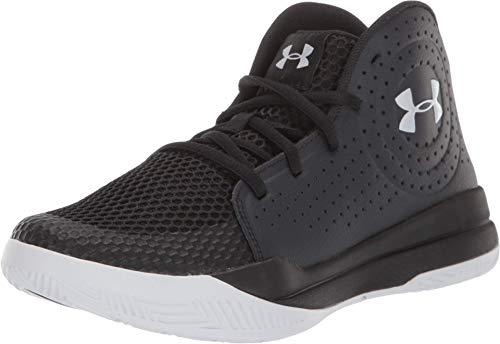 Under Armour Kids' Pre School Jet 2019 Basketball Shoe, Black (001)/Black, 7 (Under Armour Jet Shoes)