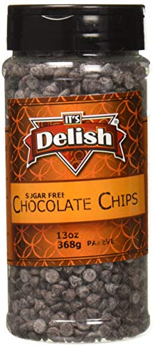 - It's Delish Real Chocolate Chips Semi-Sweet and Dairy Free, 13 Ounce, Medium Jar