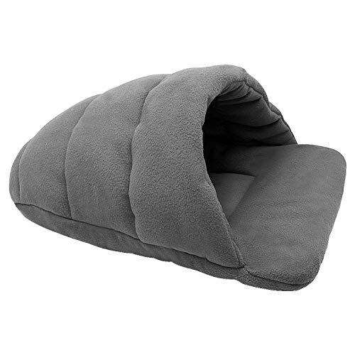 sevenTimes Dog Bed House for Small Dogs Dog Cat Kennel Mat Cat Sleeping Bag Sofa Warm Pet Cushion Nest for Small Medium Dog Cat Winter,Gray,XL ()