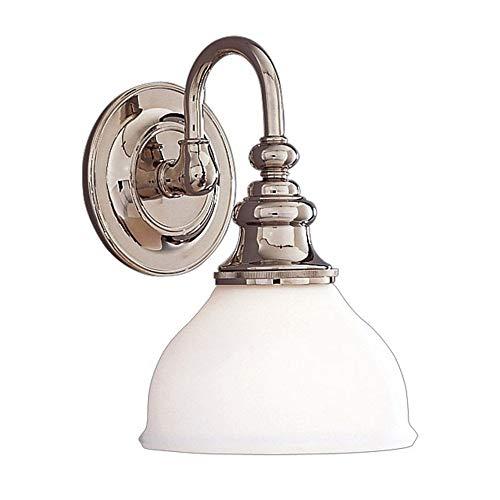 Hudson Valley 5901-PN, Sutton Reversible Glass Wall Vanity Lighting, 1 Light, 100 Watts, -