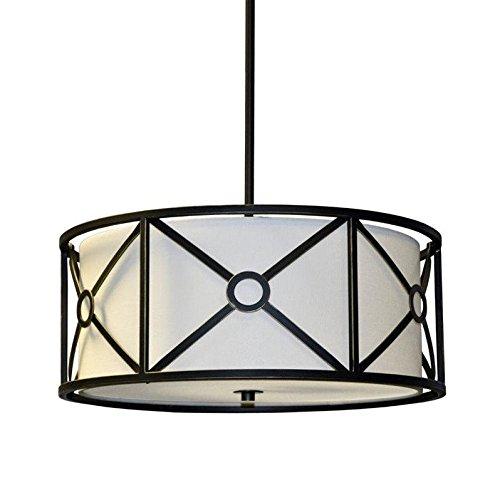 Cream Metal Pendant Light Shade - 1