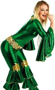 Green Dancing Queen - Abba. Costume Fancy Dress Clothing. Size : XS. (disfraz)