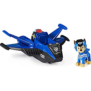 Paw Patrol, Jet to The Rescue Chase's Deluxe Transforming Vehicle with Lights and Sounds