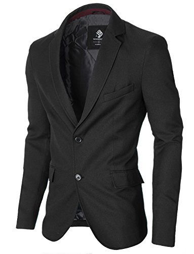 [해외]MODERNO Mens 슬림 피트 2 버튼 블레이저 자켓 (MOD14514B)/MODERNO Mens Slim Fit Two Buttons Blazer Jacket (MOD14514B)