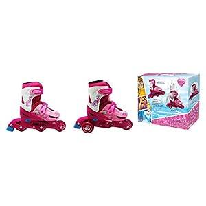 Disney DPS-2601 Princesses 2-in-1 Convertible Skates 31 to 34, White & Pink