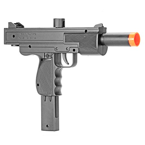BBTac Airsoft Pistol Uzi Style Spring Loaded Cock and Shoot Single Shot Airsoft Gun (Best Spring Loaded Airsoft Pistol)