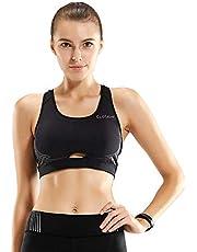 CLOSKIN® Damen Sport BH Stark Halt Bra Damen Bustier Racerback ohne Bügel Laufen Fitness Gym Yoga für Frauen