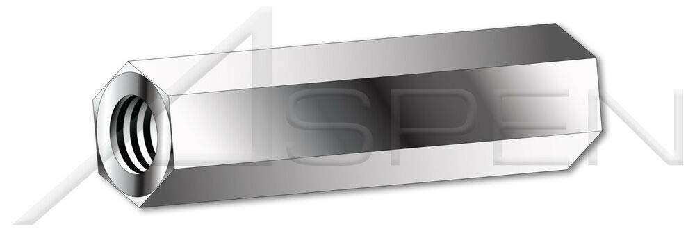 100 pcs 8-32 x 5/8'' 303 Stainless Steel Hex Female Standoffs 5/16'' Across Flats by ASPEN FASTENERS