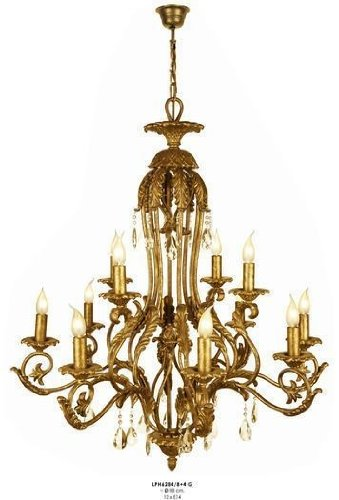 Casa padrino luxury baroque chandelier with real glass crystals gold casa padrino luxury baroque chandelier with real glass crystals gold antique look 12 flame chandeliers aloadofball Image collections