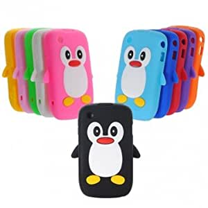 Cute Penguin Soft Silicone Case For Blackberry Curve 8520 8530 9300 --- Color:Green