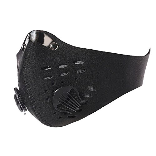 Sandistore Activated Carbon Anti Dust Mask Bicycle Motorcycle Racing Ski Half Face Mask (Black)