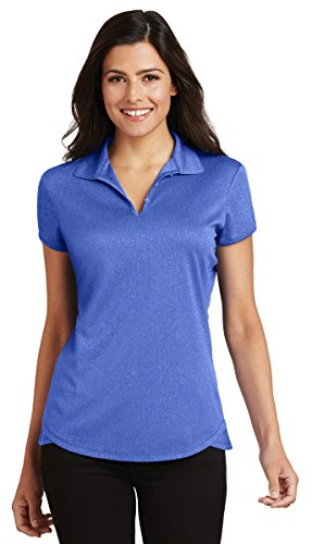 Port Authority Ladies Trace Heather Polo Shirt. L576 True Royal Heather (Ladies Trace)