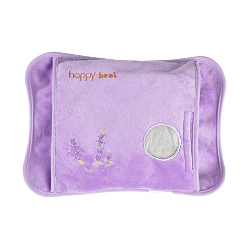Happy Heat Heating Pad Hands, Electric Water Bag, Arthritis Hand Warmer, Auto-Shut Off- Lavender