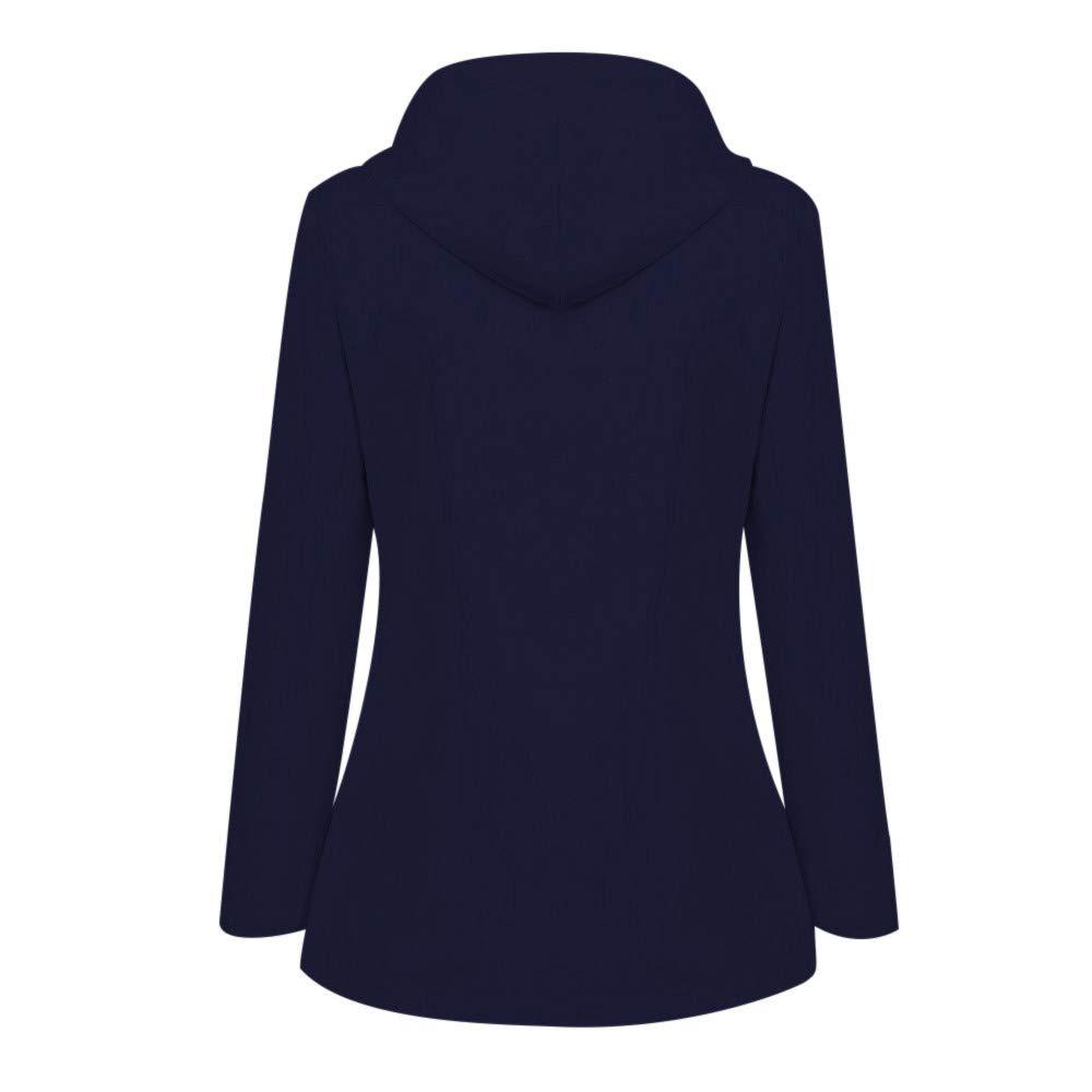Millenniums Femme Manteau Imperméable Veste De Pluie Pliable Capuche Grande Taille Coupe-Vent Jacket à Manches Longues Casual Sweatshirt Hoodie Outwear Sport Parka Bleu Foncé