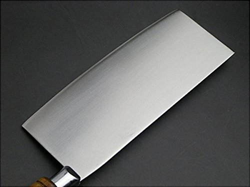 HONMAMON Chinese Cleaver 205mm, Blade Edge : Hagane, Between Stainless Steel, Double Bevel