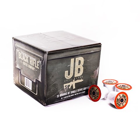 """Black Rifle Coffee Company JB """"Just Black"""" Single Serve Capsules for Keurig K-Cup Brewers (32 Count)"""