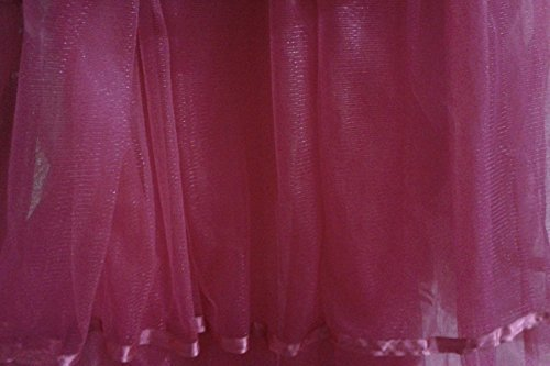 Magenta Tulle Tutu Satin trim Cotton Lined Bed Skirt, twin, queen twin xl -detachable option Queen Detachable Cotton Bedskirt