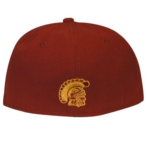 e35b0e27a NEW ERA 59fifty Hat USC Trojans Fitted College Ac Script Cardinal ...