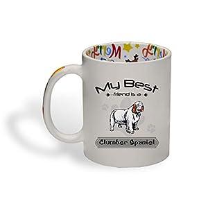 Ceramic Christmas Coffee Mug My Best Friend Is Clumber Spaniel Dog Funny Tea Cup 31