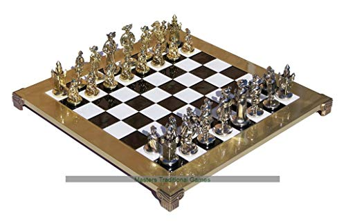(Manopoulos Medieval Knights Chess Set)