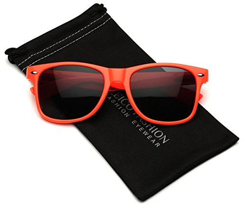 Leico Fashion - Iconic Horn Rimmed Classic Sunglasses - Bright Neon - Sunglasses Cheap Hipster