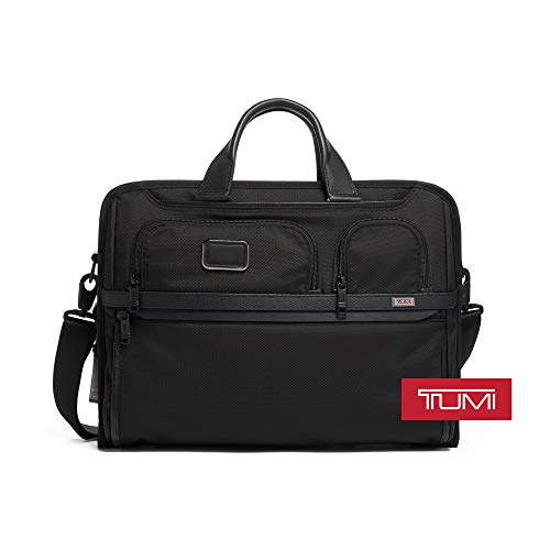 TUMI - Alpha 3 Compact Large Screen Laptop Brief Briefcase - 17 Inch Computer Bag for Men and Women - Black