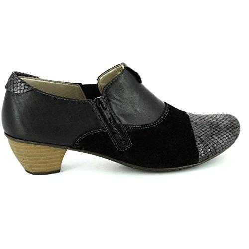 Rieker - Zapatos de vestir para mujer negro negro negro