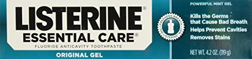 (Listerine Essential Care Fluoride Toothpaste Gel-Mint-4.2 oz, 2 pk)