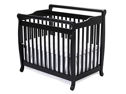 Da Vinci Mini Crib Mattress - DaVinci Emily 2-in-1 Mini Crib and Twin Bed in Ebony Finish