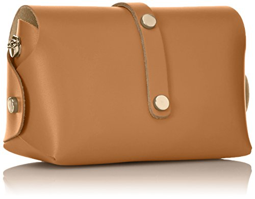 Italy genuine shoulder strap small in Cm 18x11x9 CTM bag Clutch with Orange Cuoio leather made Shoulder Woman's n7xw8qFf