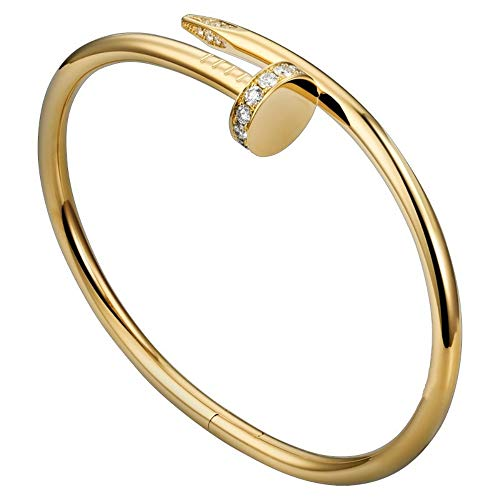 Cartier Jewelry Inspired (Guanjie Titanium Steel Bracelet Ladies Fashion Classic Lovely Bracelet Ladies Gift Bracelet (Gold Bracelet))