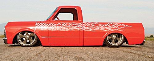 Hot Ride Design Hot Rod Performance Tattoo Flames Tribal Checkered Flag Street Racing Racing Drift Tuned Car Vinyl Graphics SUV Tr191 (Tribal Flag)