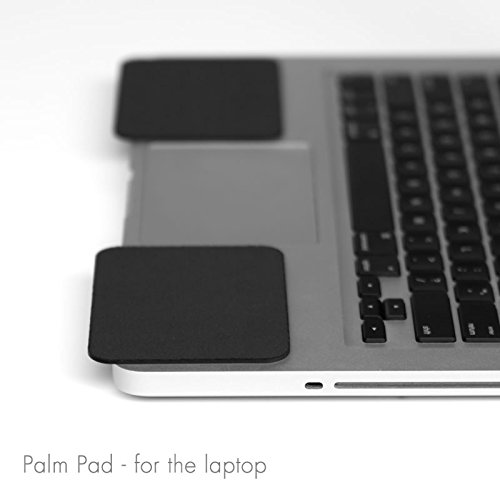 Price comparison product image GRIFITI Palm Pads are Apple MacBook Wrist Rests and Notebook,  Netbook,  and Laptop Wrist Pads Made with Silicone to Easily Reposition and Remove while Travelling