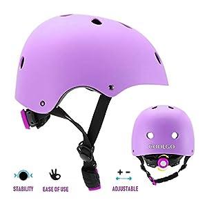 COOLGOEU Enfants Youth Sports équipement de Protection 7 in 1 Kit de Protection Roller avec Casque Genou Coude Poignet de Sécurité Pad Guard pour Skateboard, Roller, Vélo, Hoverboard