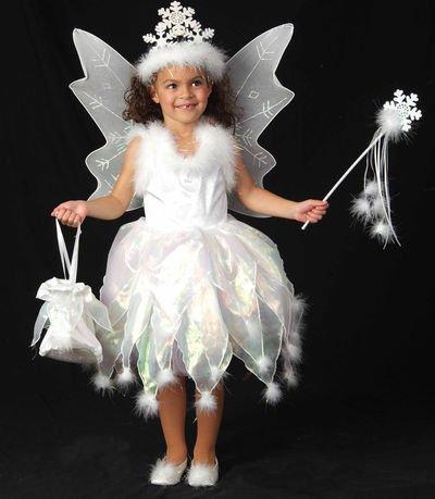 Children's Snowflake Fairy Costume- Size Small (5-6)