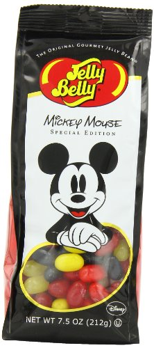 Jelly Belly Jelly Beans, Mickey Mouse Special Edition, 7.5 Ounce ()